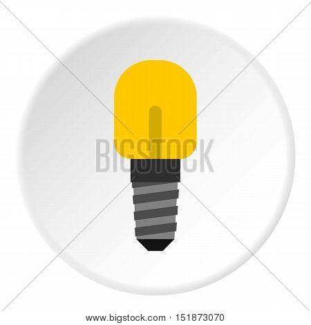 Small incandescent lamp icon. Flat illustration of small incandescent lamp vector icon for web