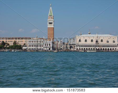 St Mark Square Seen Fron St Mark Basin In Venice