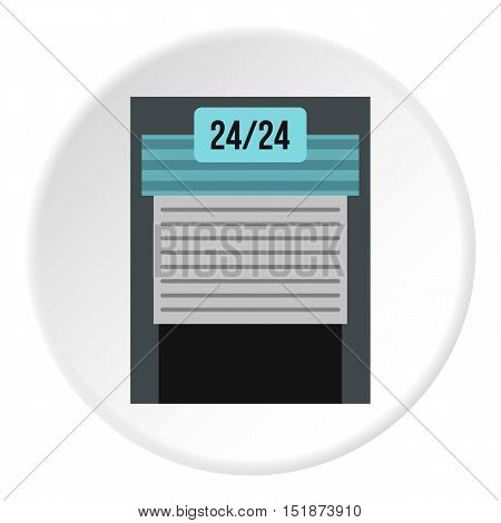 Gates to parking icon. Flat illustration of gates to parking vector icon for web