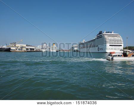 Msc Orchestra Ship In Venice