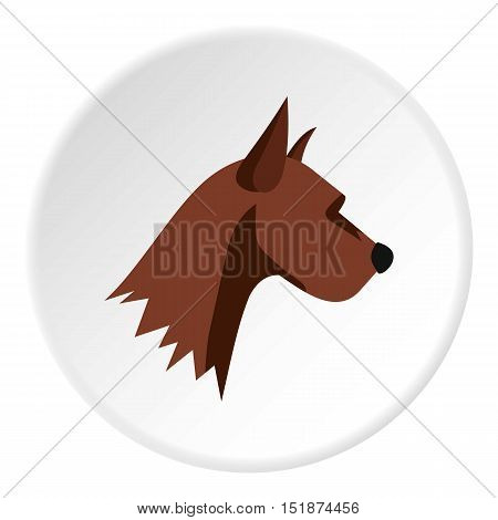 Dog head icon. Flat illustration of dog head vector icon for web