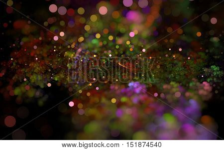 multi colored blurred fractal back ground back drop