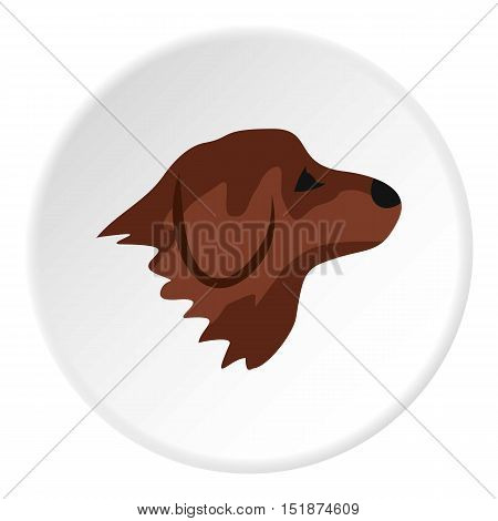 Retriever dog icon. Flat illustration of retriever dog vector icon for web
