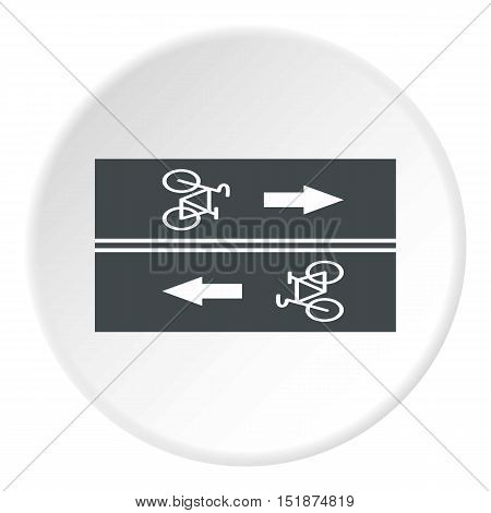 Road for cyclists icon. Flat illustration of road for cyclists vector icon for web