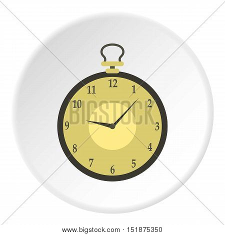 Pocket watch icon. Flat illustration of pocket watch vector icon for web