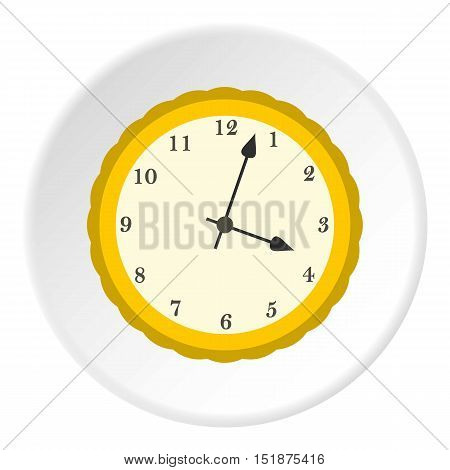 Round mechanical watch icon. Flat illustration of round mechanical watch vector icon for web