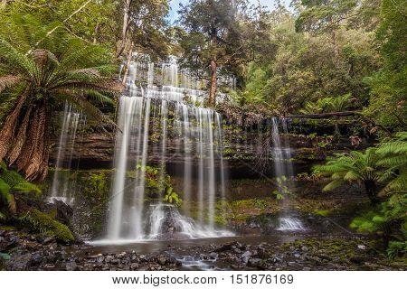 Famous Russel Falls, Mount Field National Park, Tasmania
