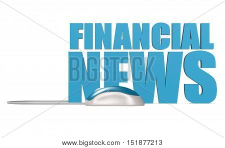 Financial News Word Isolated