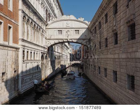 Bridge Of Sighs In Venice