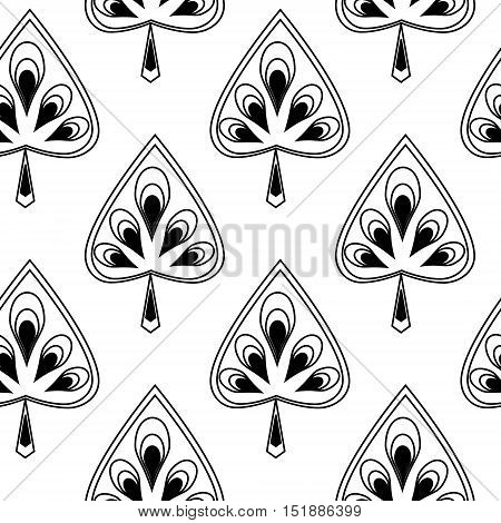 Symmetrical seamless texture with a decorative leaves