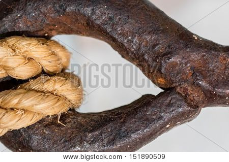 Old Rusted Fishing Hook - Close-up