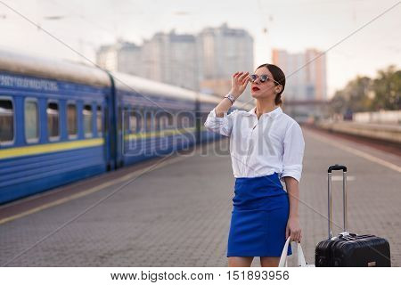 Pretty Woman At The Train Station