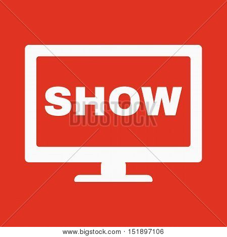 The tv show icon. Television and telly, telecasting, broadcast symbol. Flat Vector illustration