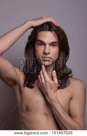 Male Female Man Woman Transgender Transsexual Portrait