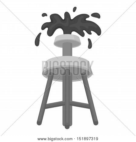 Oil rig icon in cartoon style isolated on white background. Arab Emirates symbol vector illustration.