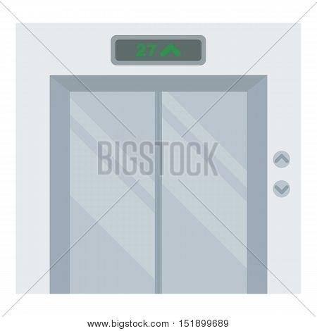 Elevator icon in cartoon style isolated on white background. Hotel symbol vector illustration.
