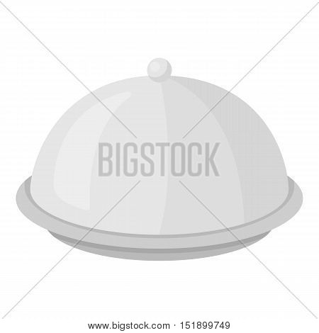Cloche icon in cartoon style isolated on white background. Hotel symbol vector illustration.