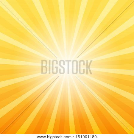 Orange sunray background Gate to Heaven concept 2d vector illustration eps 10