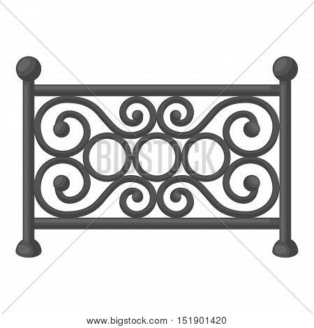 Fence icon in cartoon style isolated on white background. Park symbol vector illustration.