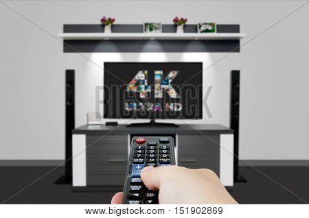 Tv Ultra Hd. 4K Television Resolution Technology.