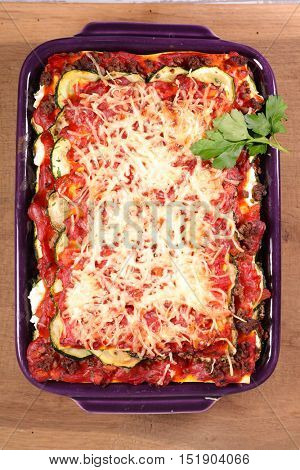 vegetable and meat gratin