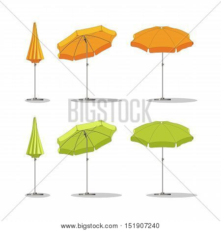Set of some different sunshades, vector illustration