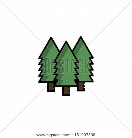 Hunting icon. Forest. Flat style Vector illustration EPS 10