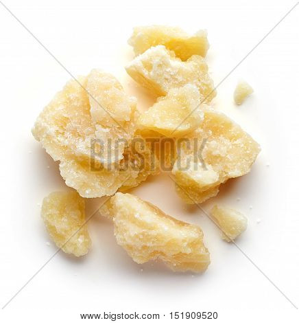 Parmesan Cheese Isolated On White Background