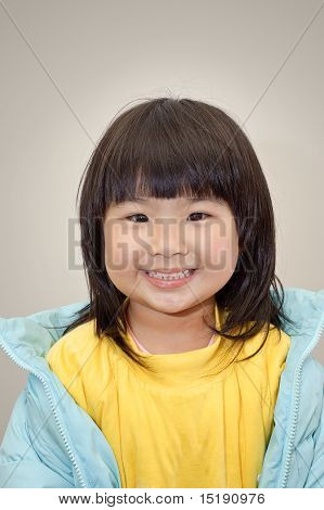 Cheerful Japanese Girl
