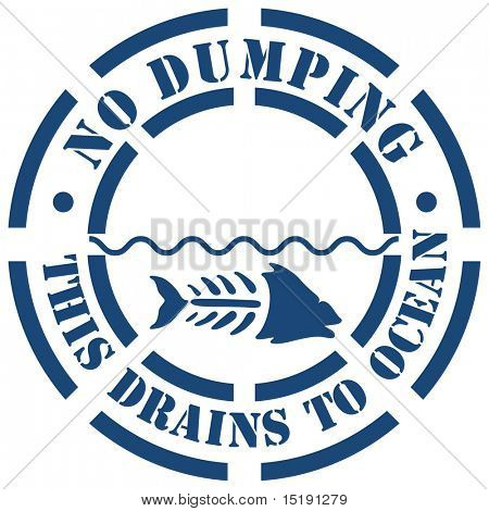An image of a no dumping sign.