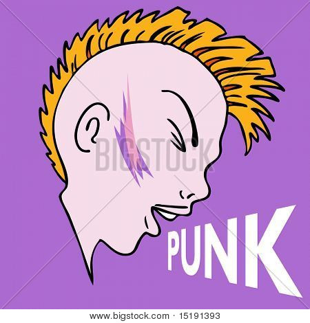 An image of a punk mowhawk character