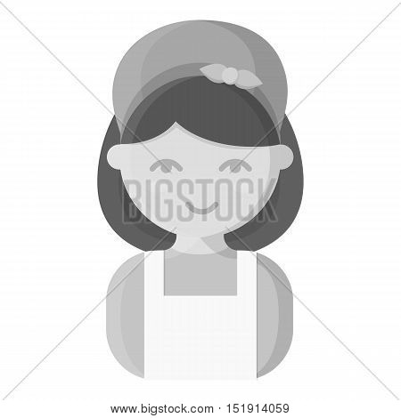 Housewife monochrome icon. Illustration for web and mobile.