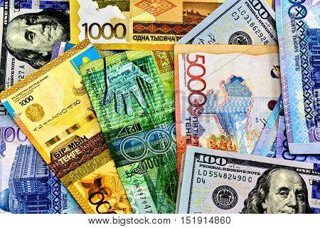 Money Kazakhstan Tenge and the US Dollar