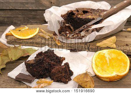 Still Life With Chocolate Cake