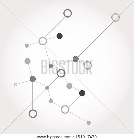 Social Network Graphic Concept. Abstract Background With Dots Array And Lines. Geometric Modern Tech