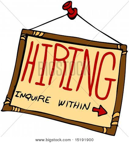 An image of a hiring sign inquire within.