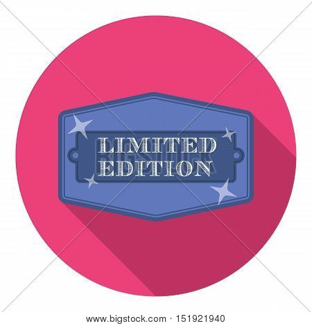 Limited edition icon in flat style isolated on white background. Label symbol vector illustration.