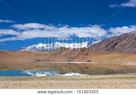 Thatsang Karu Lake In The Indian Himalayas, Ladakh, India