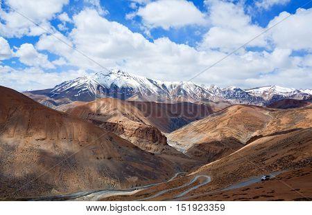Himalayan Mountain Landscape Along Manali - Leh Road, India