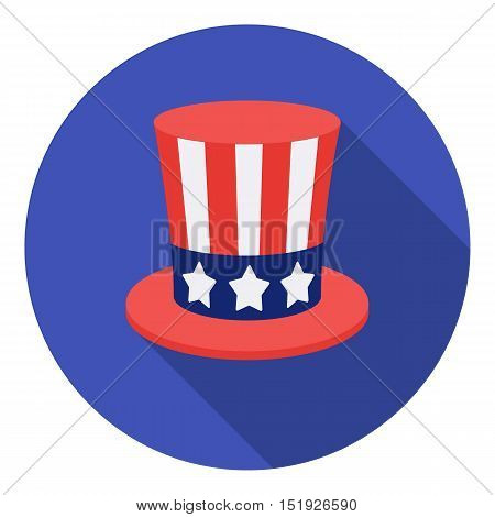 Uncle Sam's hat icon in flat style isolated on white background. Patriot day symbol vector illustration.
