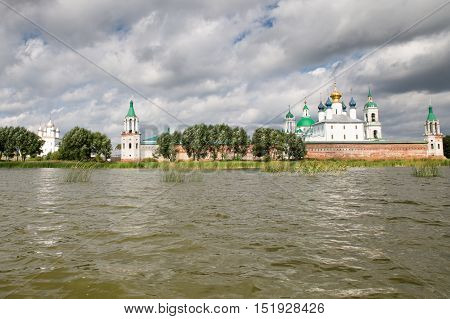 Beautiful view on the church, Rostov Veliky, Russia