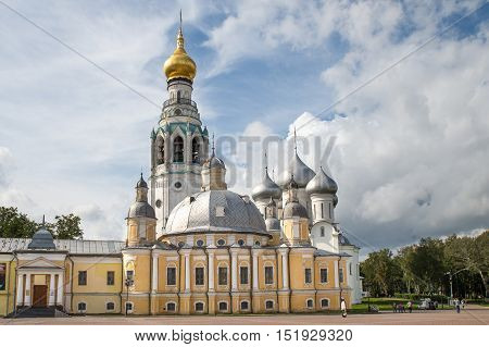 Beautiful view on the church, Vologda, Russia