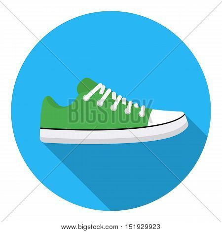 Gumshoes icon in flat style isolated on white background. Shoes symbol vector illustration.