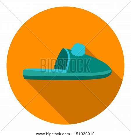 Slippers icon in flat style isolated on white background. Shoes symbol vector illustration.