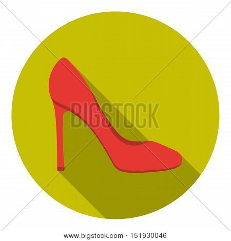 Stiletto icon in flat style isolated on white background. Shoes symbol vector illustration.