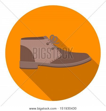 Oxfords icon in flat style isolated on white background. Shoes symbol vector illustration.