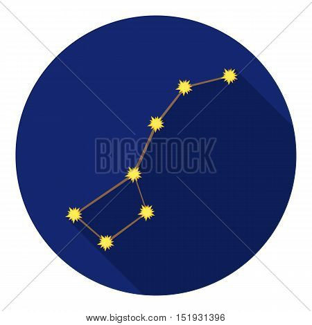 Ursa Major icon in flat style isolated on white background. Space symbol vector illustration.