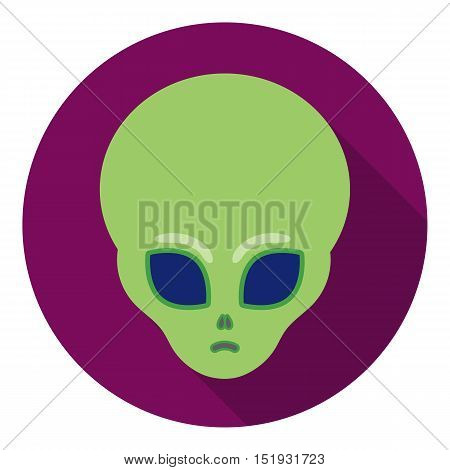 Alien icon in flat style isolated on white background. Space symbol vector illustration.