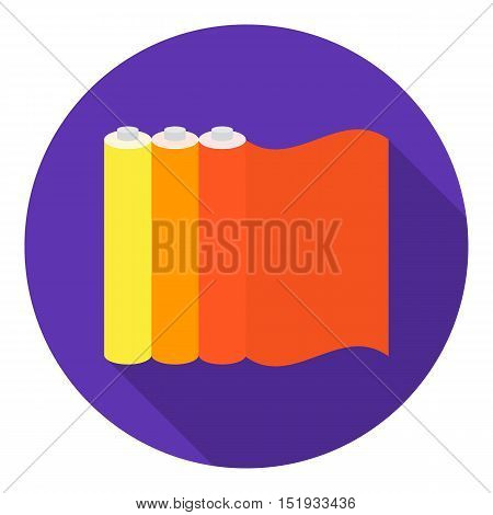 Color printing paper in flat style isolated on white background. Typography symbol vector illustration.