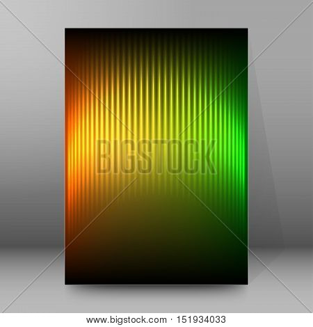 Background Report Brochure Cover Pages A4 Style Abstract Glow50